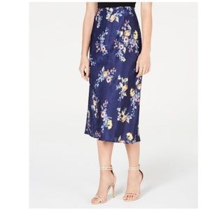 Material Girl Blue Floral Textured Junior's Skirt